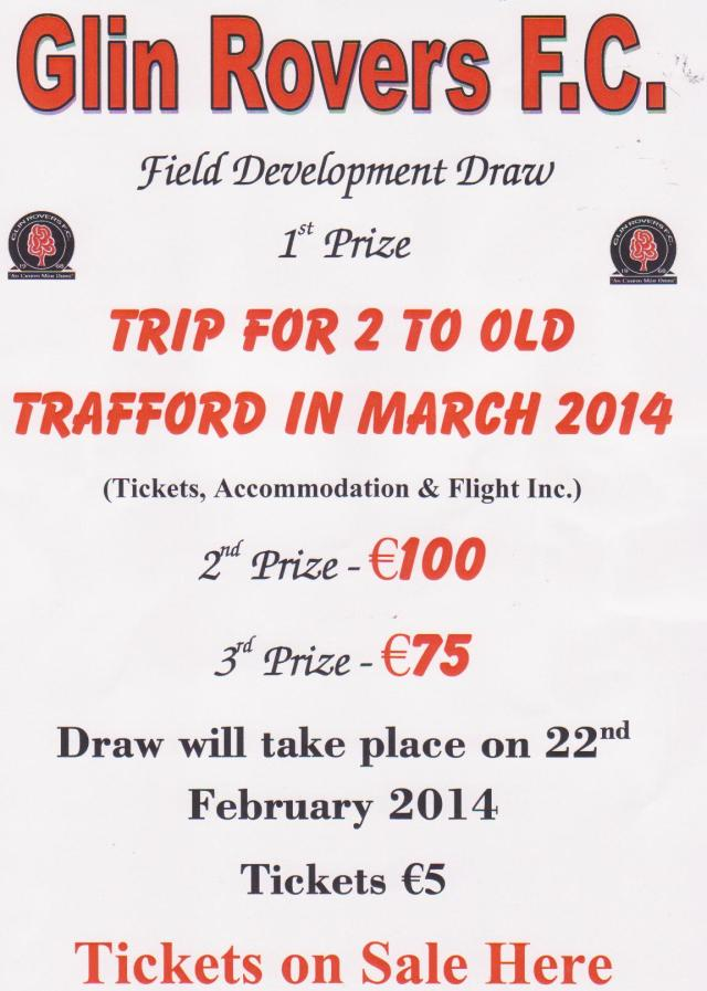 Glin Rovers F.C. OLD TRAFFORD DRAW 2014