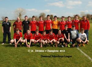 gb rovers u16 2015 League Winners and Desmond Cup Finalists